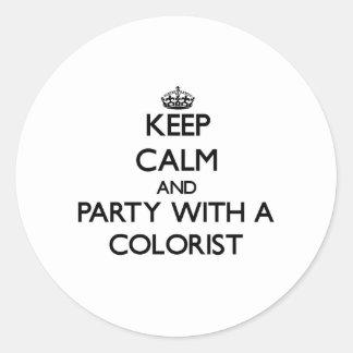 Mantenha a calma e o partido com um Colorist Adesivo