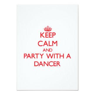 Mantenha a calma e o partido com um dançarino convites