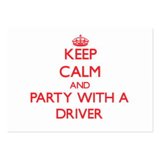 Mantenha a calma e o partido com um motorista cartoes de visita