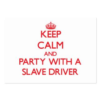 Mantenha a calma e o partido com um motorista de e modelo cartões de visitas