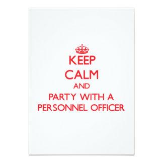 Mantenha a calma e o partido com um oficial de convite 12.7 x 17.78cm