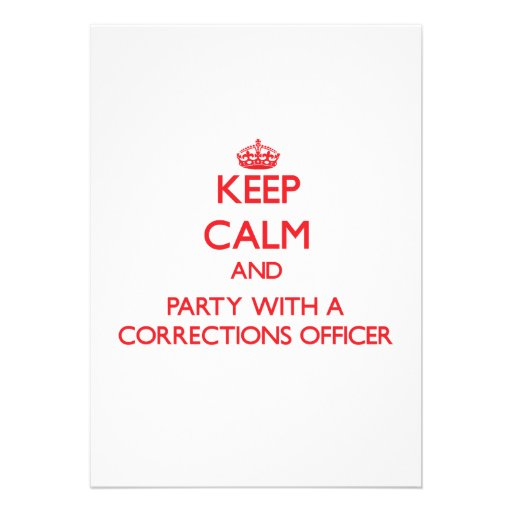 Mantenha a calma e o partido com um oficial de cor convite personalizado
