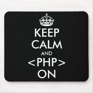 Mantenha a calma e o PHP no humor Geeky de Mouse Pad