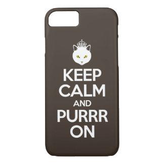 Mantenha a calma e o Purrr sobre Capa iPhone 7