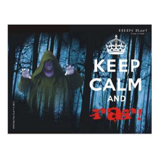 Mantenha a calma e o Rar! Cartão