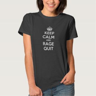 Mantenha a calma e o t-shirt das mulheres paradas