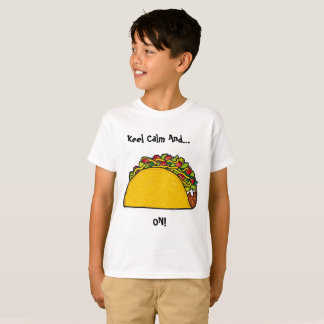 Mantenha a calma e o Taco na camisa (tamanho: XS)