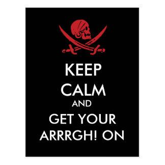Mantenha a calma e obtenha seu Arrrgh! No cartão