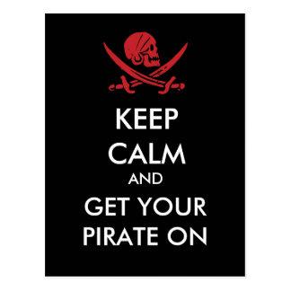 Mantenha a calma e obtenha seu pirata no cartão