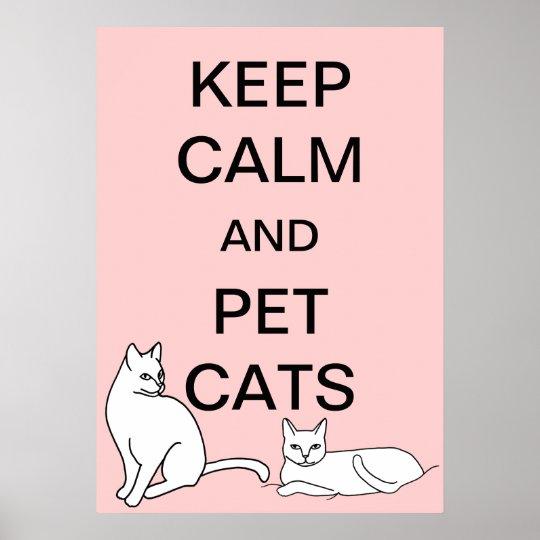 Mantenha a calma e os posters do costume dos gatos