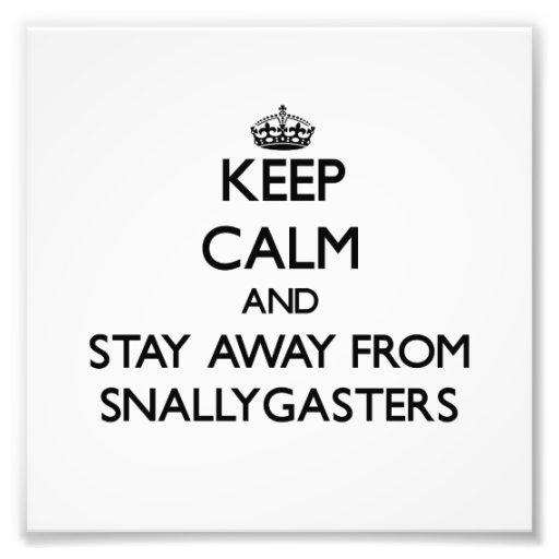 Mantenha a calma e permaneça longe de Snallygaster Impressão De Foto
