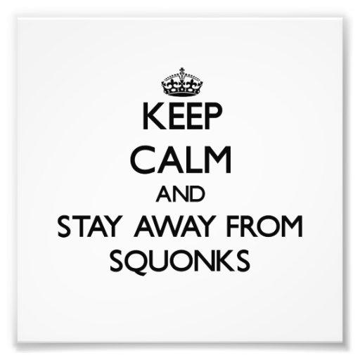 Mantenha a calma e permaneça longe de Squonks Fotos