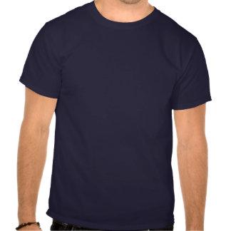 Mantenha a calma e projete-a sobre camisetas