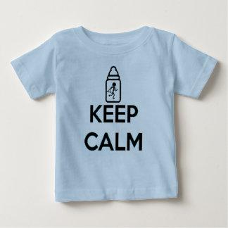 Mantenha a calma e rasteje sobre - junte A Camiseta Para Bebê