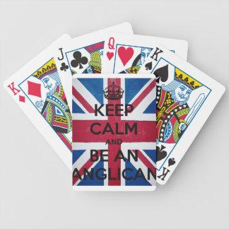 Mantenha a calma e seja um anglicano cartas de baralhos