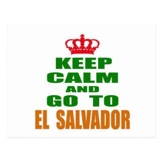 Mantenha a calma e vá a El Salvador. Cartão Postal