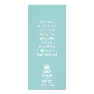 Mantenha a calma e vá aos termas 10.16 x 22.86cm panfleto