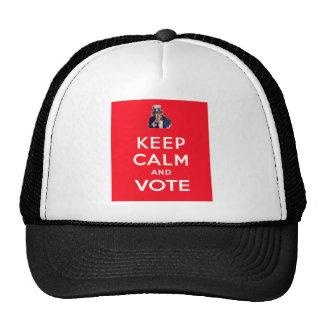 Mantenha a calma e vote boné