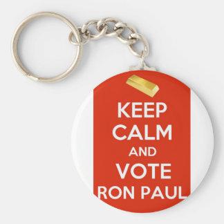 Mantenha a calma e vote Ron Paul - bandeira de our Chaveiro