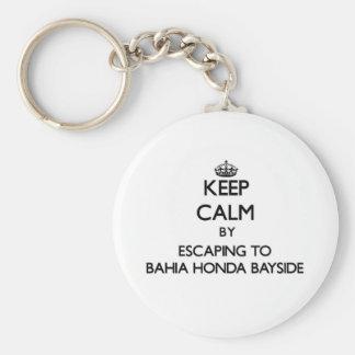 Mantenha a calma escapando a Baía Honda Bayside Fl Chaveiro