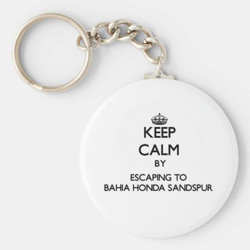 Mantenha a calma escapando a Baía Honda Sandspur F Chaveiros