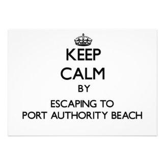 Mantenha a calma escapando à praia Guam da autorid