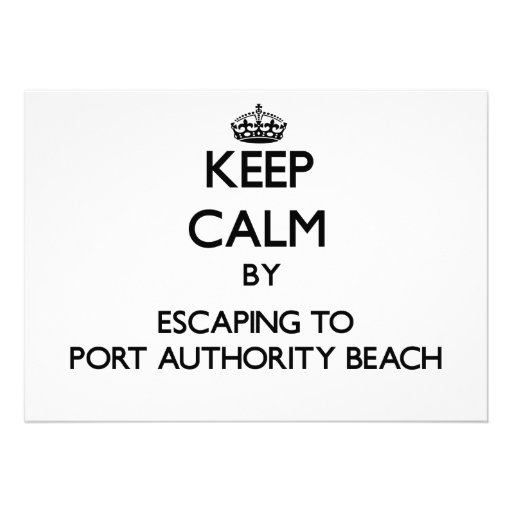Mantenha a calma escapando à praia Guam da autorid Convite Personalizado