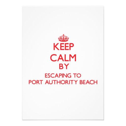 Mantenha a calma escapando à praia Guam da autorid Convites Personalizado