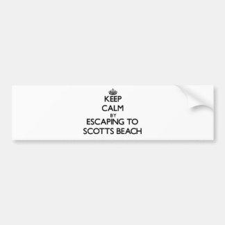 Mantenha a calma escapando à praia New York de Sco Adesivos