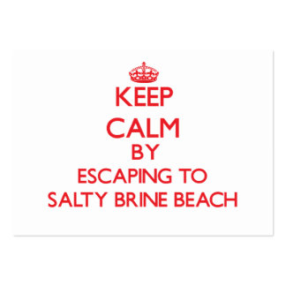 Mantenha a calma escapando à praia salgado Rhode d Cartoes De Visitas
