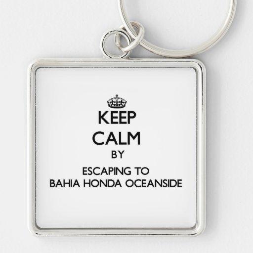 Mantenha a calma escapando ao perto do oceano Flo  Chaveiros