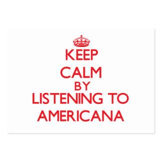Mantenha a calma escutando a AMERICANA