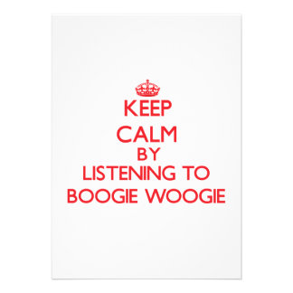 Mantenha a calma escutando a DANÇA WOOGIE