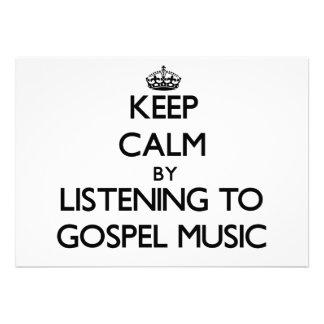 Mantenha a calma escutando a MÚSICA de EVANGELHO Convite Personalizado