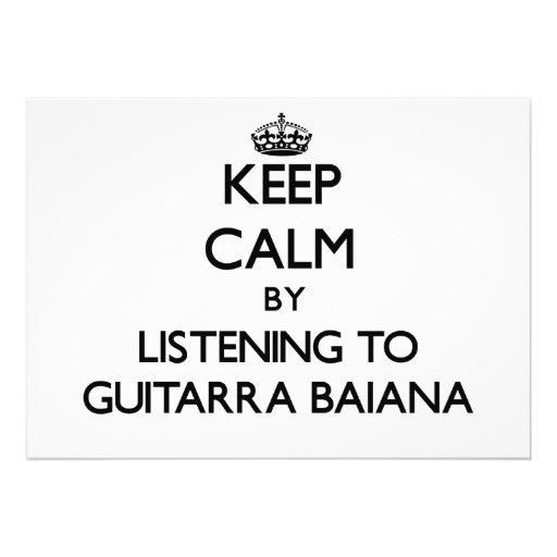 Mantenha a calma escutando GUITARRA BAIANA Convites