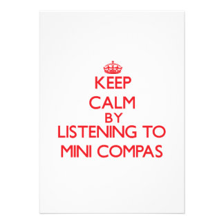 Mantenha a calma escutando MINI COMPAS