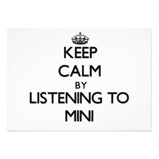 Mantenha a calma escutando MINI