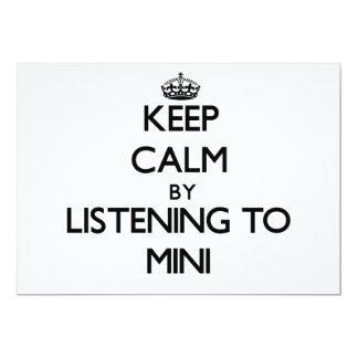 Mantenha a calma escutando MINI Convites Personalizados
