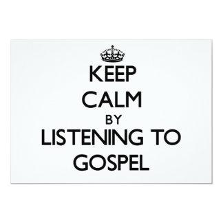 Mantenha a calma escutando o EVANGELHO Convite Personalizado