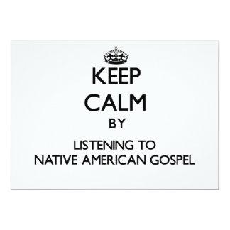 Mantenha a calma escutando o EVANGELHO do NATIVO Convite