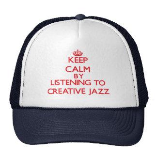 Mantenha a calma escutando o JAZZ CRIATIVO Bonés