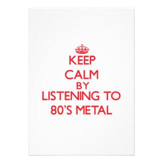 Mantenha a calma escutando o METAL do anos 80 Convite
