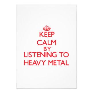 Mantenha a calma escutando o METAL PESADO