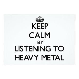 Mantenha a calma escutando o METAL PESADO Convite Personalizados