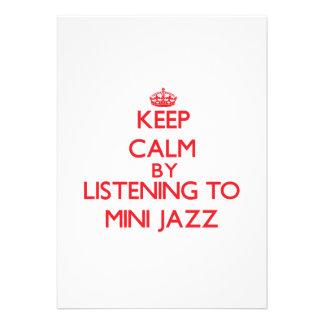 Mantenha a calma escutando o MINI JAZZ