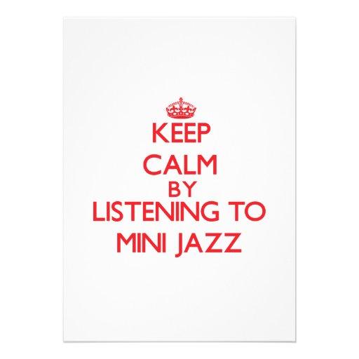 Mantenha a calma escutando o MINI JAZZ Convites Personalizados