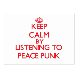 Mantenha a calma escutando o PUNK da PAZ