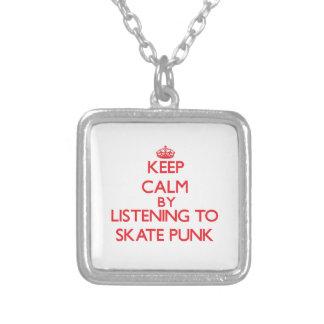 Mantenha a calma escutando o PUNK do SKATE Colares Personalizados
