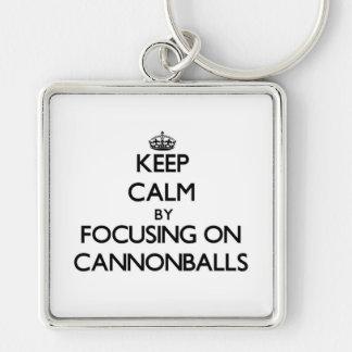 Mantenha a calma focalizando em balas de canhão