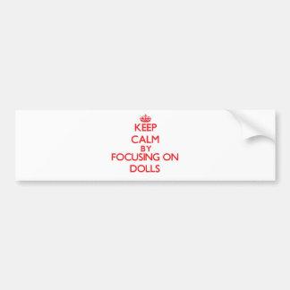 Mantenha a calma focalizando em bonecas adesivo